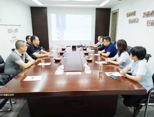 林州市横水镇政府领导一行来公司调研
